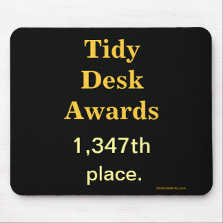 Spoof Office Awards Tidy Desk Cruel Joke Mouse Pad