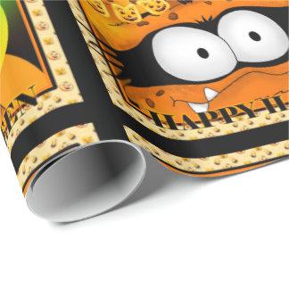 SPOOKEE PET ALIEN HALLOWEEN CARTOON Wrapping Paper