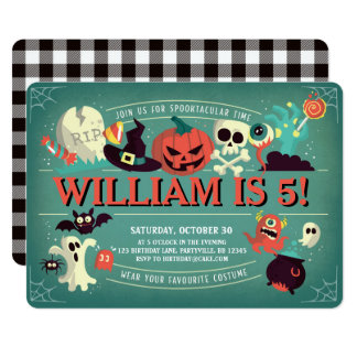 Spooktacular Birthday Party Invitation
