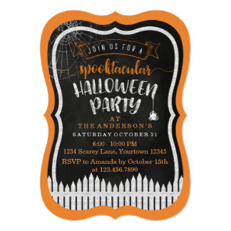 Spooktacular Halloween Custom Party Invitations