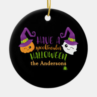 Spooktacular Halloween Custom Personalized Ceramic Ornament