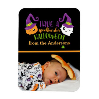 Spooktacular Halloween Custom Personalized Photo Magnet
