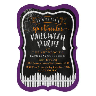 Spooktacular Halloween Modern Party Invitations
