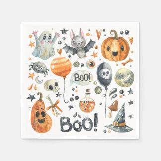 Spooktacular Halloween Party   Cocktail Napkin Paper Napkin