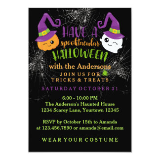 Spooktacular Halloween Party Custom Invitations