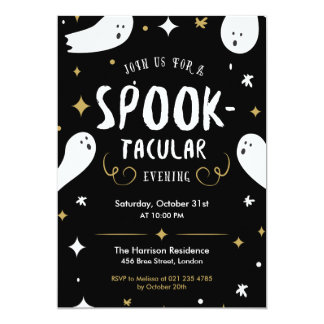 Spooktacular Halloween Party Invitation