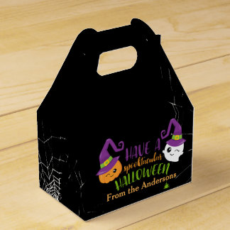 Spooktacular Halloween Party Personalized Favor Favour Box