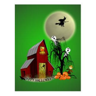 Spooky Barn Recipe Card Postcard