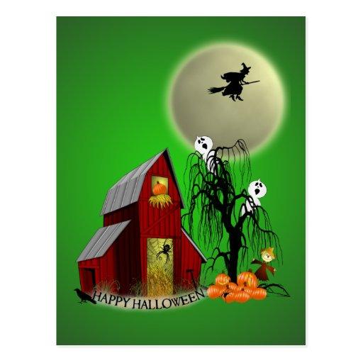 Spooky Barn Recipe Card Post Card
