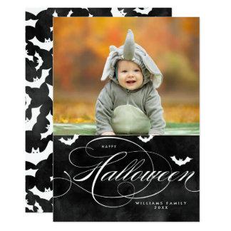 Spooky Bat Halloween Photo Cards