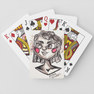 Spooky Bat Lady Playing Cards