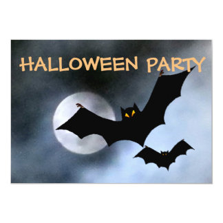 Spooky Bats Halloween Invitations