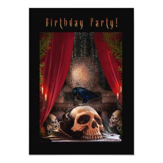 Spooky Birthday Party Invitation - Ravens Den