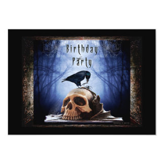 Spooky Birthday Party Invitation - The Raven