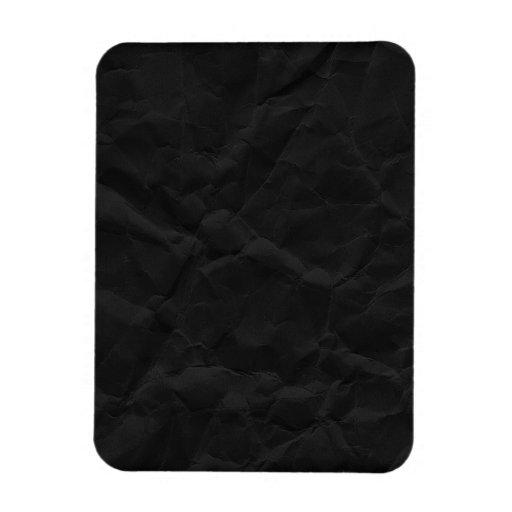 SPOOKY BLACK CRINKLED WRINKLED PAPER TEXTURE TEMPL RECTANGLE MAGNET