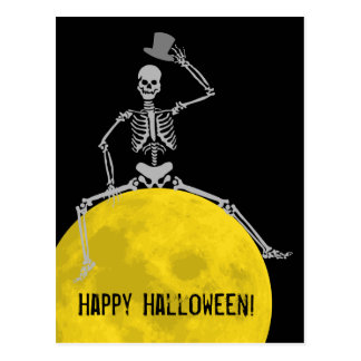 Spooky BOOO from the Moon! Postcard