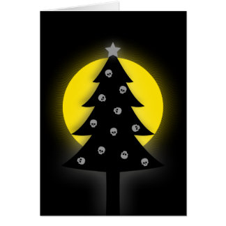 Spooky Christmas Tree Card