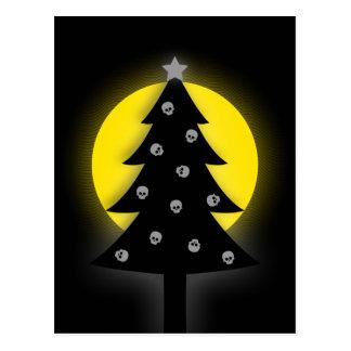 Spooky Christmas Tree Postcard