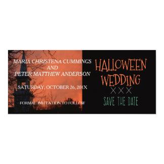 Spooky Church Halloween Wedding Save The Date Card 10 Cm X 24 Cm Invitation Card