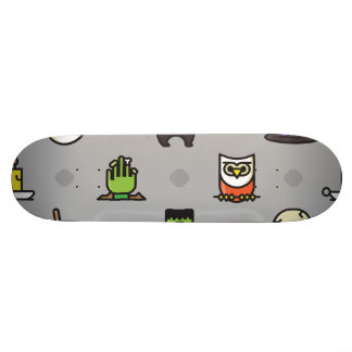 Spooky Colorful Halloween Pattern 21.6 Cm Old School Skateboard Deck