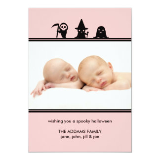 Spooky Costumes Halloween Photo Card 13 Cm X 18 Cm Invitation Card