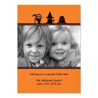 "Spooky Costumes Halloween Photo Card 5"" X 7"" Invitation Card"