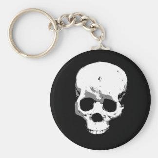 Spooky Creepy Skull Halloween Keychain