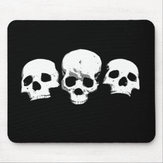 Spooky Creepy Skulls Halloween Mousepad