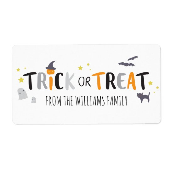 Spooky Critters Shipping Label