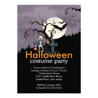 Spooky Cute Halloween Costume Party Invitation