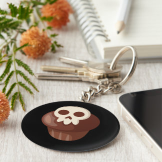 Spooky & Cute Skele-muffin Key Ring