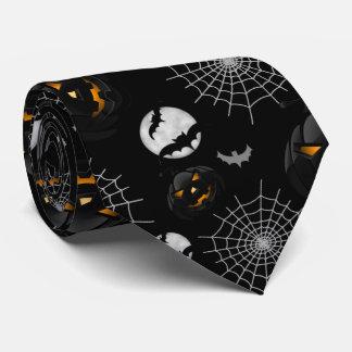 Spooky Dark Halloween Pattern Tie