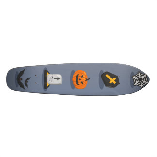 Spooky Detailed Colorful Halloween Pattern 20.6 Cm Skateboard Deck