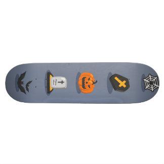 Spooky Detailed Colorful Halloween Pattern Skateboard Decks