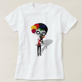 Spooky Dia de Los Muertos Girl T-Shirt