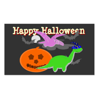 Spooky Dinosaurs Happy Halloween Cards Business Card