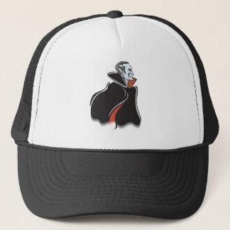 spooky dracula vampire trucker hat