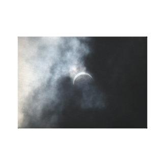 Spooky Eclipse Storm Clouds 2017 Canvas Print