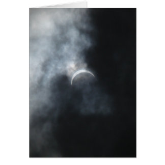 Spooky Eclipse Storm Clouds 2017 Card