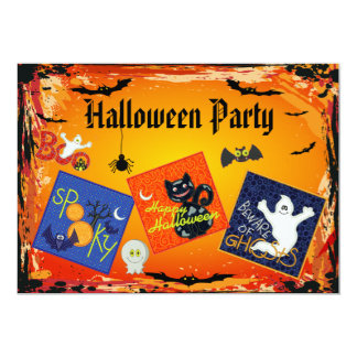 Spooky Embroidery Patches Halloween Party Invites