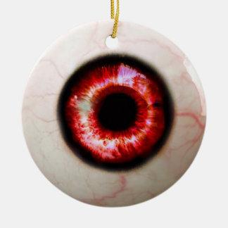 Spooky Eyeball Ceramic Ornament