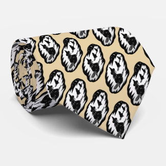 spooky flying witches on broomsticks halloween tie