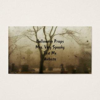 Spooky Fog Graveyard Business Card