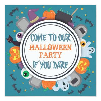 Spooky Frame Halloween Party Card