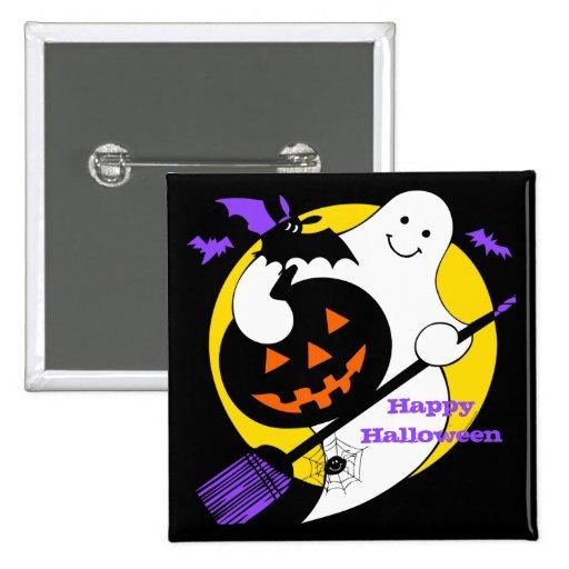 Spooky Ghost Custom Button