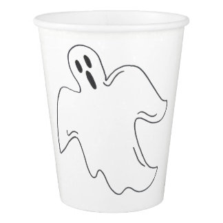 Spooky Ghost Halloween Party Haunted House Boo Paper Cup