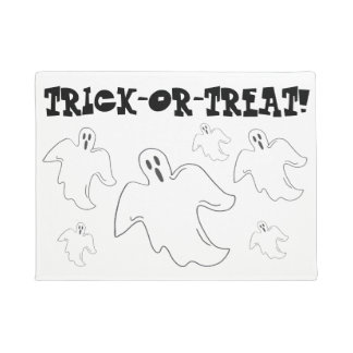 Spooky Ghost Halloween Trick-Or-Treat Decor Doormat