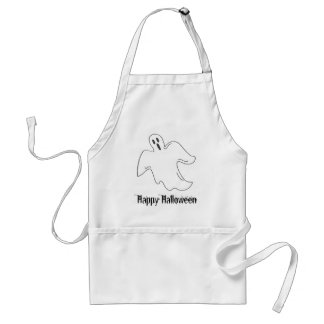 Spooky Ghost Happy Halloween Party Standard Apron