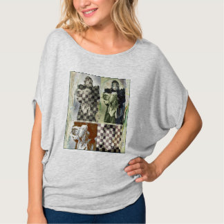 """Spooky Girl with Doll"" Women's Flowy Tee Shirt"