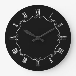 Spooky Gothic Border Large Clock